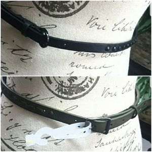 """Accessories - Bundle of Two Thin Embellished Belts 33"""""""